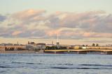 View of the Neva river and Liteyny Bridge poster