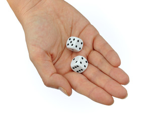 Hand with Dice