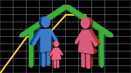 Grafico famiglia italiana