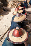 Typical Dogon hats, Mali (Africa).
