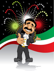 Mariachi and fireworks