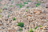 Aerial view of a Dogon village, Mali (Africa).