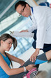 Athletic woman in physiotherapy