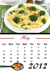 Monthly Pasta Calendar. May 2012