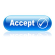 Boton alargado brillante texto Accept