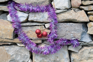 Christmas Decorations on Masonry Construction