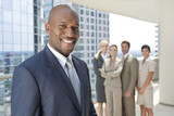 African American Man Businessman & Business Team