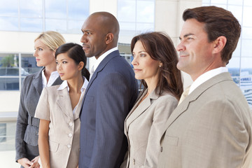 Interracial Men & Women Business Team