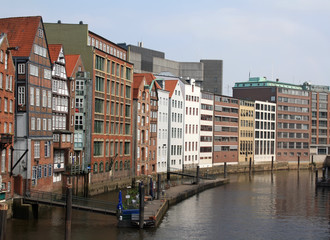 One of the channels in Hamburg