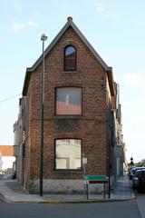 The gable of a house built of bricks