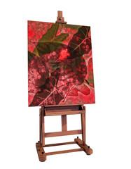 Cavalletto per dipingere isolato 3d