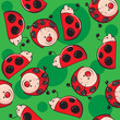 Seamless pattern - Ladybugs
