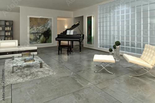Loft with a piano III