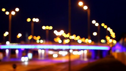 night city traffic bokeh video