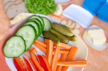 Gemüseteller zum Abendbrot