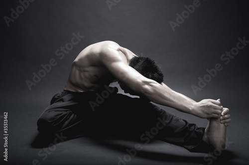 Man stretching his Body