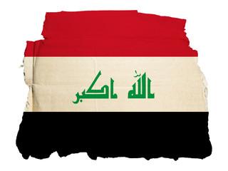 Antica Bandiera Iraq su Cartone