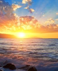 sunrise on a sea