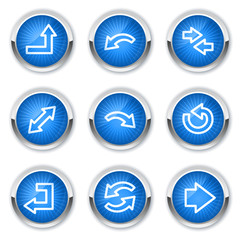 Arrows web icons set 1, blue buttons