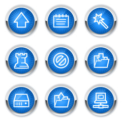 Data web icons, blue buttons