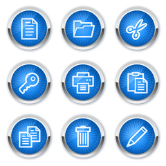 Document web icons set 1 , blue buttons