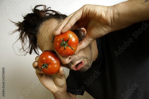 clown mit tomaten auf den augen stockfotos und lizenzfreie bilder auf bild 35516841. Black Bedroom Furniture Sets. Home Design Ideas