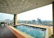 City view and reflection on the roof top pool - 35517476