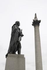 Napier statue in Trafalgar Square. London. England
