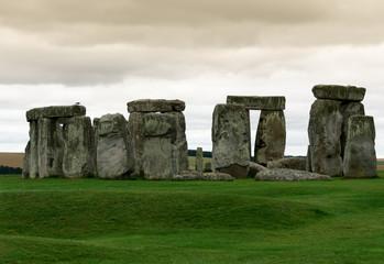 monoliti a Stonehenge al tramonto