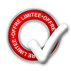 Tampon OFFRE LIMITEE (soldes prix étiquette offre spéciale web)