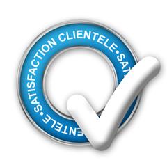 """Tampon Publicitaire """"SATISFACTION CLIENTELE"""" (service clients)"""