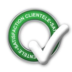 """Tampon Publicitaire """"SATISFACTION CLIENTELE"""" (qualité garantie)"""