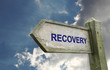 Recovery Old Worn Wooden Signpost
