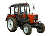 New red tractor over white, with clipping path