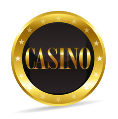 icône casino or