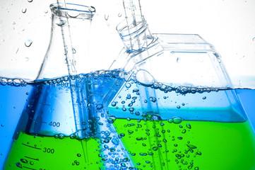 Chemical Test Tube . Laboratory glass.