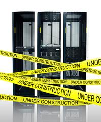 Computer server under construction