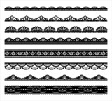 Set of black scalloped vector borders