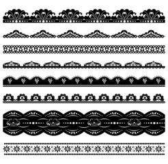 Set of black scalloped vector borders2
