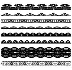 Set of black scalloped vector borders2