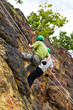 Cliff abseiling recreation in Thailand