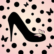 pink fashion shoes Hintergrund