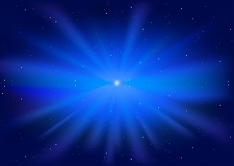 Blue Glowing Star - starburst of blue with a glowing centre