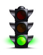 Traffic light on green