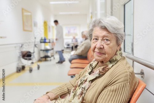 Senior Woman Waiting for Treatment in Hospital 1