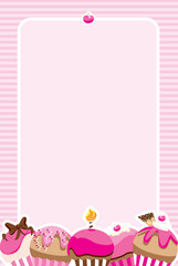 Cupcake Girls Invite/Menu