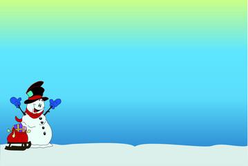 cartolina pupazzo di neve