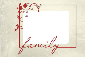 red family frame