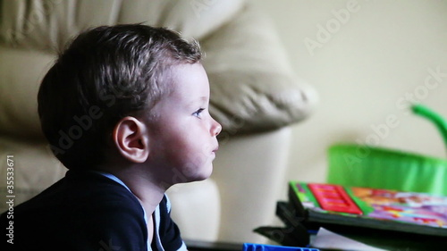 Baby Boy with Blue Eyes from Profile