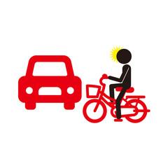 車と自転車の衝突事故